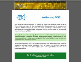 Main page screenshot of forum.fok.nl