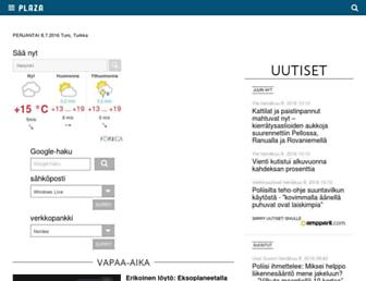 Main page screenshot of murobbs.plaza.fi