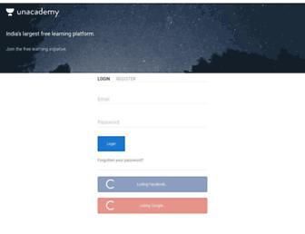 unacademy.com screenshot