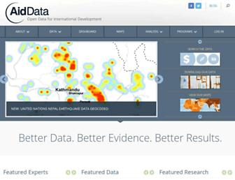 aiddata.org screenshot