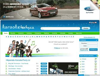 karaoketexty.cz screenshot