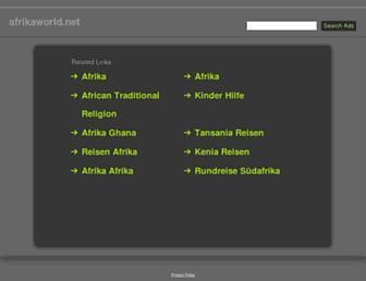 Main page screenshot of afrikaworld.net