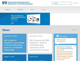Main page screenshot of bvr.de