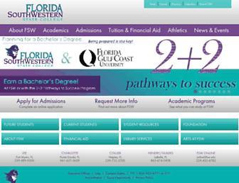 fsw.edu screenshot