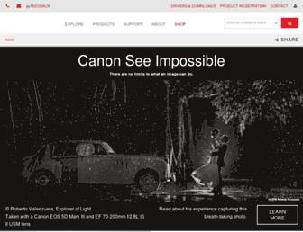 usa.canon.com screenshot