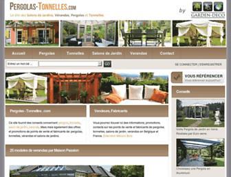 pergolas-tonnelles.com screenshot