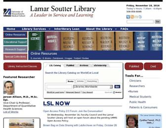 library.umassmed.edu screenshot