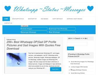 whatsappstatusmessages.com screenshot