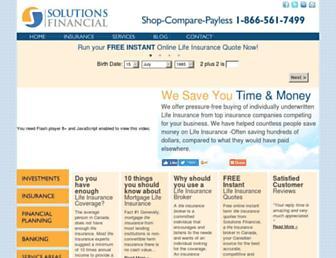 solutionsfinancial.ca screenshot