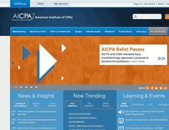 aicpa.org screenshot