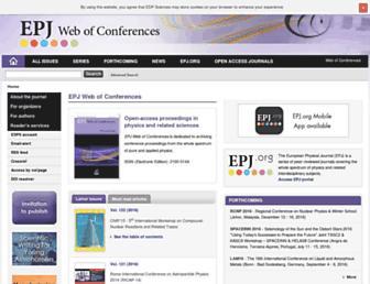 epj-conferences.org screenshot