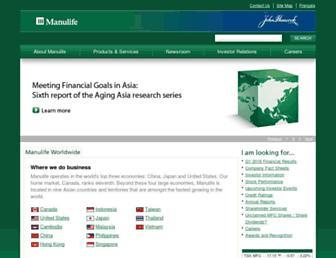 manulife.com screenshot