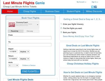 lastminuteflightsgenie.com screenshot