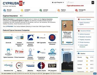 cyprusinsurance.com screenshot