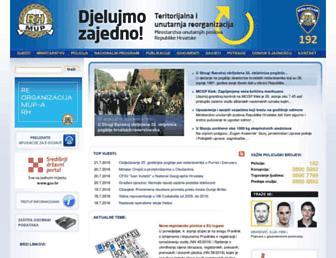 Main page screenshot of mup.hr