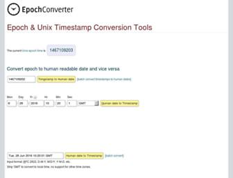 Thumbshot of Epochconverter.com