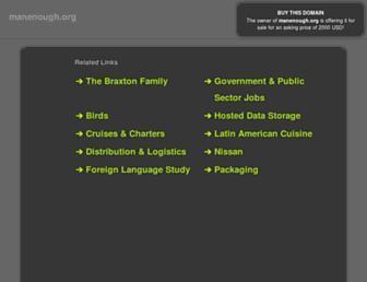 Main page screenshot of manenough.org