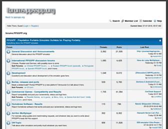 forums.ppsspp.org screenshot