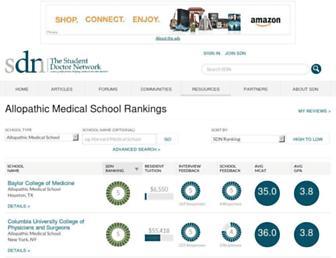 schools.studentdoctor.net screenshot
