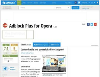 adblock-plus-opera.en.softonic.com screenshot