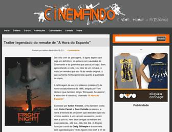 Main page screenshot of cinemando.net