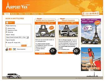 airportvan.com screenshot