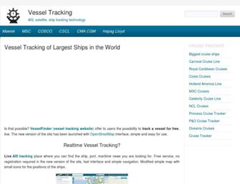 vesseltracking.net screenshot