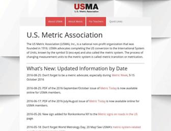 us-metric.org screenshot