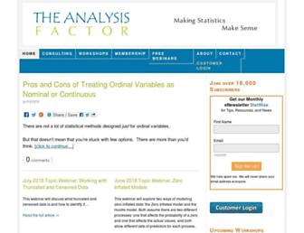 theanalysisfactor.com screenshot