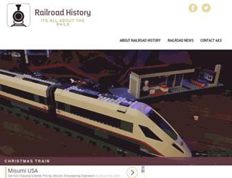 historyofrailroad.com screenshot