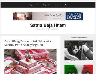 satriabajahitam.com screenshot