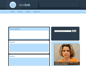 namefunk.com screenshot