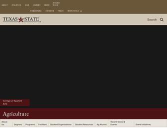 ag.txstate.edu screenshot