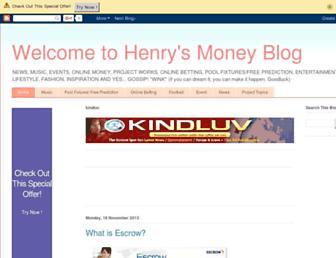 henrymoney.blogspot.com screenshot