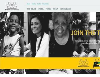 Main page screenshot of brazilfoundation.org