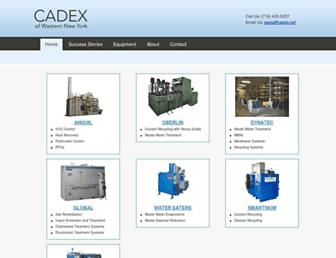 Main page screenshot of cadex.net