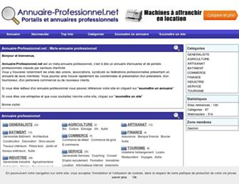 Main page screenshot of annuaire-professionnel.net