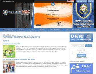 nscpolteksby.ac.id screenshot