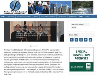 Main page screenshot of nysspe.org