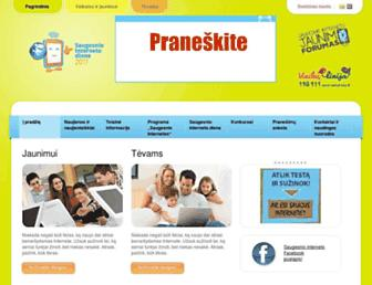 Main page screenshot of draugiskasinternetas.lt