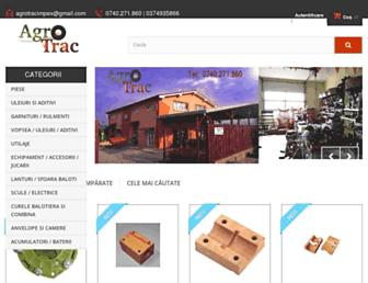 agrotrac.ro screenshot