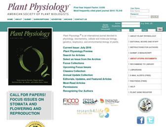plantphysiol.org screenshot