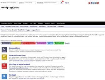 Thumbshot of Wordplays.com