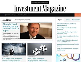 investmentmagazine.com.au screenshot