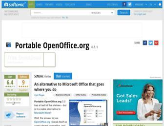 portable-openoffice-org.en.softonic.com screenshot