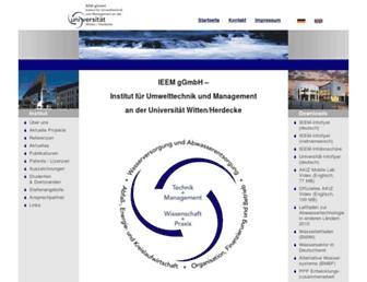 Main page screenshot of uni-wh-utm.de