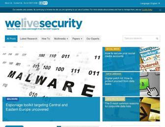 welivesecurity.com screenshot