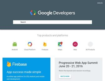 developers.google.com screenshot