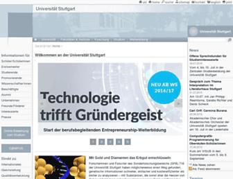 Main page screenshot of uni-stuttgart.de