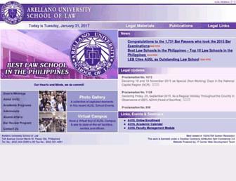 arellanolaw.edu screenshot